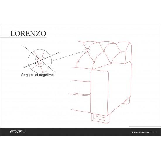 Minkštų baldų komplektas LORENZO
